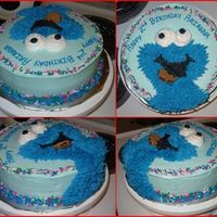 Cookie Monster Birthday Cake I made this cake for a friends daughters 2nd birthday, cookie monster is her favorite! Thanks to cakefungirl for the inspiration I just...