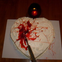 Happy Birthday Red Velvet Cake   A heart shaped cake to show the love Bella and Edward have for each other.