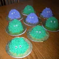Mini Monsters   all buttercream on oversized cupcakes