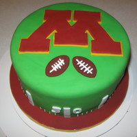 Golden Gopher Football Kickoff I made this for a Uof MN football party. Everything is fondant.