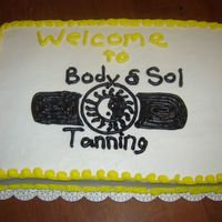 Cake For A Grand Opening I made this for this one for a grand opening of a new tanning salon in town