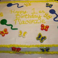 1St Birthday Cake I made this cake for my cousins first birthday.