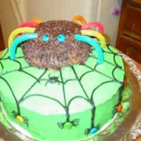 Spider Cake This was for my sons kindergarten class. Chocolate cake with buttercream frosting.
