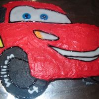 Lightning Mcqueen - Try Two I was happy with the improvement on this cake, compared to my first go. still a fiddly one to do though - very time consuming.