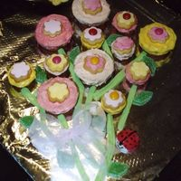 Flower Cake This was the first cake for my little girl - i said i'd never to the muffin type cake again after my little boy's first attempt,...