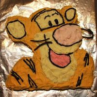 Tigger Cake I helped my girlfriend make this one in may 06 - she was to make just a teddy bear cake but her little boy loved Tigger but she was too...