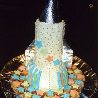 Spaceship / Rocketship Cake My little boy wanted a spaceship for his 3rd birthday in sep 05, i think i did great, i loved this - from the biscuits surrounding the...