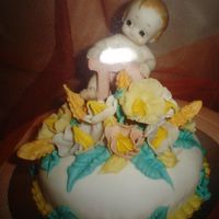 My Baby Shower Cake of course made by me, just took a pic again at my portfolio. i got 8 small cakes, chocolate caramel cake covered with fondant, yummy