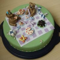 Teddy-Bear Birthday Picninc My birthday was celebrated with a family picnic, so I did this cake (as one of 3) to take with us. It is white mudcake with lemoncurd,...