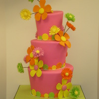Fun And Funky Gerber Daisy Mad Hatter Cake