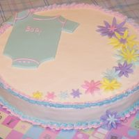 Wendi Edayny Shower  This is my first cake after a long break to focus on schoolwork. It is for a double shower--a boy and a girl. Thanks to all the people who...