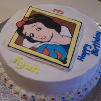 Snow White Birthday  This cake was made for my neighbor's 3rd birthday. She specifically requested Snow White. Plain white box cake (little kids) with...