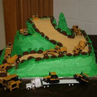 Billy Bob This was actually a Groom's cake for my nephew who does dozer work butI have made it for birthdays too.