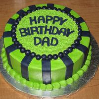 Birthday Cake Just a basic birthday cake. Buttercream with MMF accents.