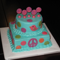 Hippie Chick Buttercream with fondant accents