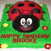 Ladybug Cake   Mostly buttercream with a few accents in MMF. This was a fun cake to make!