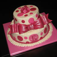 Pink Baby Shower Cake   Buttercream with MMF accents. Thanks for looking!