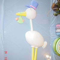 Stork Delivery I found this cake design in the wilton fondant book. Made it for a baby shower