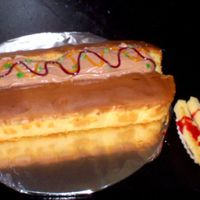Hot Dog And Fries Cake  This was for my son's birthday. I was soooo happy to not have to bake and frost a cake since I has so many paying cakes due. This was...