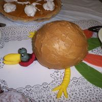 Turkey Went Splat This cake is inspired by the cake done by boysmomintx. Thank you so much for yours I waited all year to be able to do this. It is lemon...