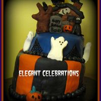 Halloween Topsy Turvy Birthday Cake This cake was inspired by one I saw online. Unfotunately I can't locate it again to give the original creator credit. If you've...