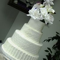 4 Tier Winter Wedding Cake
