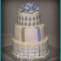 Blue Sage & Cream Baby Shower With Bow