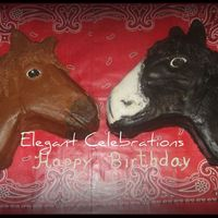 Two Horses Carved out of 9x13 sheets. Inspired by others on CC. All buttercream