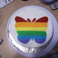 Rainbow Butterfly a buttercream cakeI was just getting my feet wet with decorating.Any advise you could give would really be appreciated