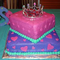 Princess Birthday Cake Birthday cake for my daughter's 3rd birthday. I've only completed Course 1, so I got overly ambitious but I was happy with the...