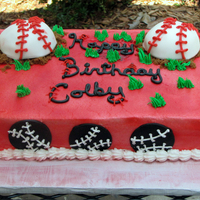 Baseball Birthday Cake This was for a young boy who plays baseball. His team colors were red and black.