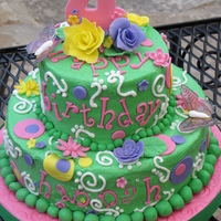 4Th Birthday Cake Yellow cake with strawberry cream cheese filling. I think this is one of my favorite cakes I have done. This one was so much fun. I...