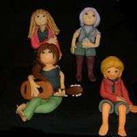 The Hannah Montana Gang Here's all four of the figures for my daughter's b-day cake. (Hannah Montana, Lola Luftnagle,Miley Stewart, and Lilly Truscott.)...