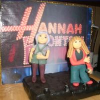 Closeup Of Hannah&lola This is a close up of Hannah Montana and Lola on the stage of the cake I made.