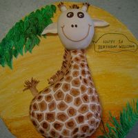 Giraffe Cake Giraffe cake from Lindy Smith party animal book. For my son 1st birthday.Chocolate cake and fondant