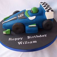 100_0167.jpg forumula 1 racing car for my grandsons 9th birthday inspired by Debbie Brown