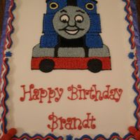 Another Thomas Cake Customer saw the Thomas cake I had done and wanted one just like it