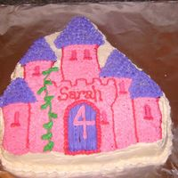 Castle Cake This is a castle cake I did for a little girl. Iced in BC.