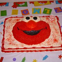 Elmo This was for my son's 2nd birthday (2.5 years ago). We had a lot of people come, but a lot left over too. The bottom sheet cake is...