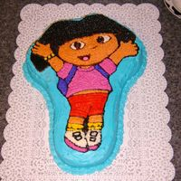 Dora I did this cake a couple years ago for a friend of my son's. It is yellow cake with BC icing.