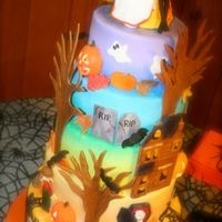 Halloween Wedding Cake This was too much fun!!