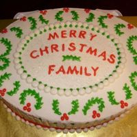 Christmas In July!  This cake was made for a dear family whose children were visiting from afar and would not be able to return for the holidays. It was pretty...