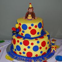 Curious George Birthday Cake This cake was for my twin sons' 4th birthday. BC with fondant George and accents.
