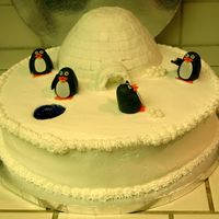 Penguin Igloo Winter Wonderland Thanks for all the ideas from this site. This was for my work potluck. It was a hit people were fighting about who got to keep the penguins...