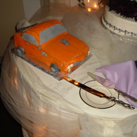 '72 Cuda Groom's Cake this cake was made for a good friend's wedding. it's his car, a 1972 barracude. he loved it! it's vanilla cake with...