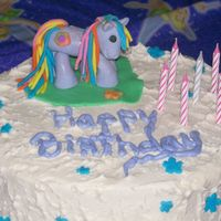 My Little Pony Cake Yellow buttercake with Pastry cream filling and buttercream frosting