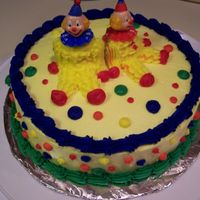Clown Cake   The Clown Cake from Wilton Course I...This one was fun! The kids LOVED it :o)