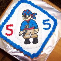 Pirate Cake   I made this cake for my nephew's 5th Bday party. My first attempt at the frozen buttercream transfer...I love it!