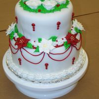 Pointsettia Cake This was my final cake for Wilton Course III! It was getting close to Christmas, so I tried to be festive. I was way too busy after the...