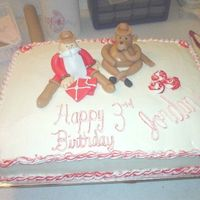 Santa Birthday Cake My 1st attempt at something like this! I laugh everytime I look at it!!